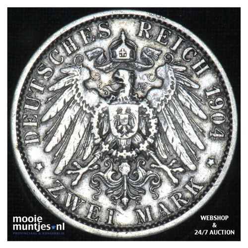 2 mark - German States/Prussia 1904 A (KM 522) (kant A)