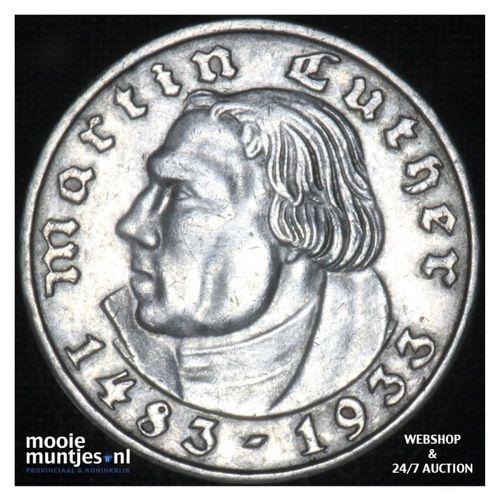 2 reichsmark - Third Reich 1933 F (KM 79) (kant A)