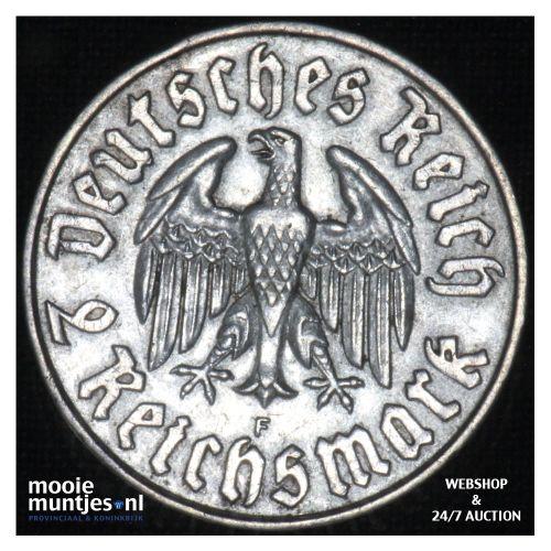 2 reichsmark - Third Reich 1933 F (KM 79) (kant B)