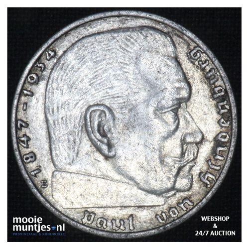 2 reichsmark - Third Reich 1938 E (KM 93) (kant B)