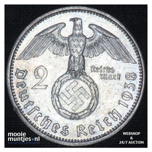 2 reichsmark - Third Reich 1938 A (KM 93) (kant A)