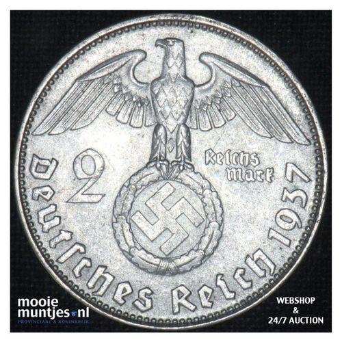 2 reichsmark - Third Reich 1937 D (KM 93) (kant A)