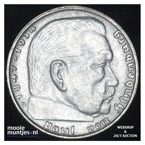 2 reichsmark - Third Reich 1937 D (KM 93) (kant B)