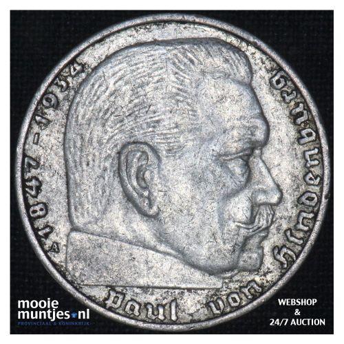 2 reichsmark - Third Reich 1938 A (KM 93) (kant B)