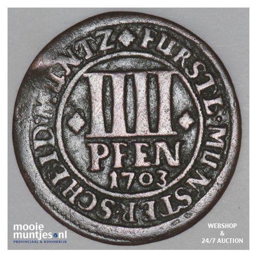 4 pfennig (1/84 thaler) - German States/Munster 1703 (KM 133) (kant A)
