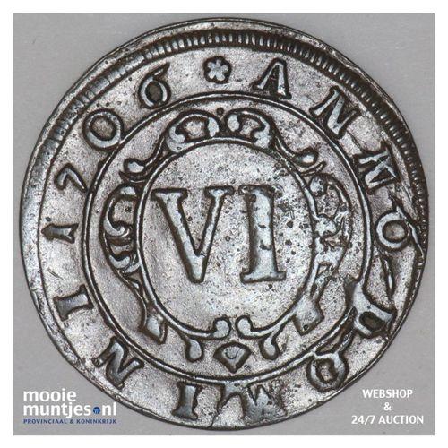 6 pfennig - boshopric - - German States/Paderborn 1706 (KM 173.2) (kant A)