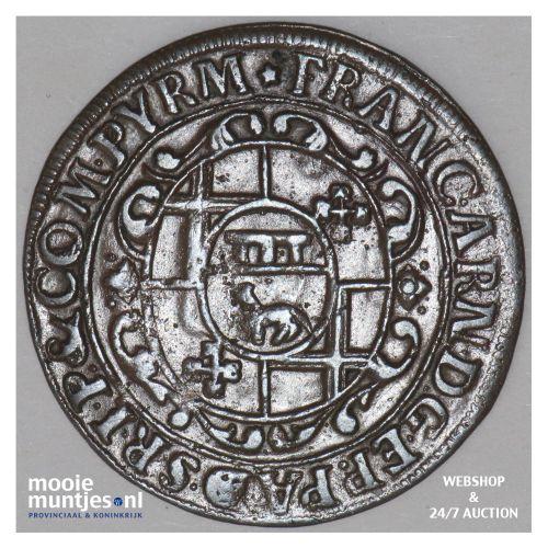 6 pfennig - boshopric - - German States/Paderborn 1706 (KM 173.2) (kant B)