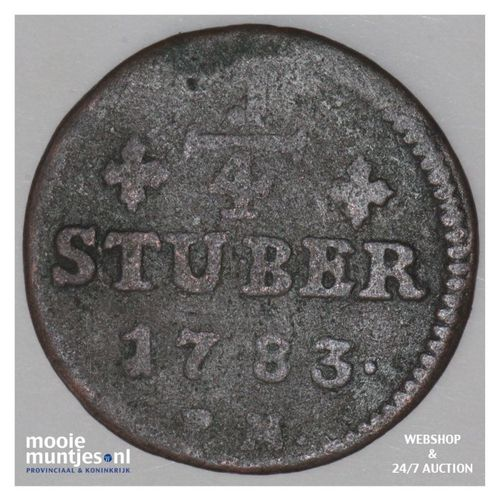 1/4 stuber -  - German States/Julich-Berg 1783 PM (KM 205) (kant A)