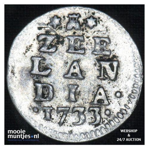 Zeeland - Dubbele wapenstuiver - 1733 (kant A)