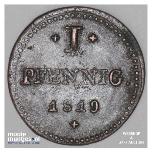 pfennig - grand duchy - German States/Hesse-Darmstadt 1819 (KM 283) (kant A)