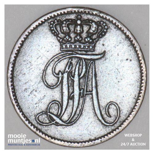 schwaren (3 light pfennig) - grand duchy - German States/Oldenburg 1852 (KM 188)