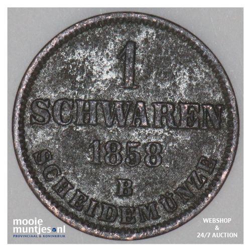 schwaren (3 light pfennig) - grand duchy - German States/Oldenburg 1858 (KM 190)
