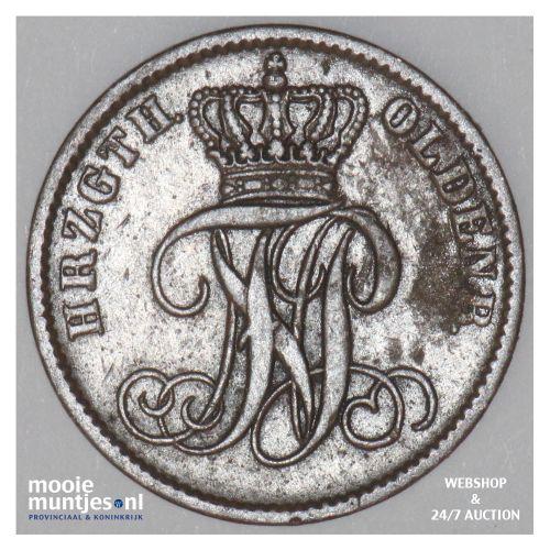 schwaren (3 light pfennig) - grand duchy - German States/Oldenburg 1859 (KM 190)