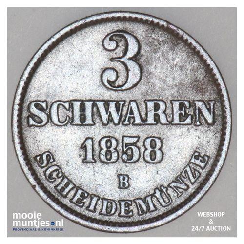 3 schwaren (3 pfennig) - grand duchy - German States/Oldenburg 1858 (KM 191) (ka