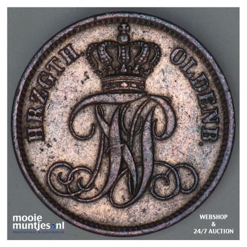 3 schwaren (3 pfennig) - grand duchy - German States/Oldenburg 1866 (KM 191) (ka
