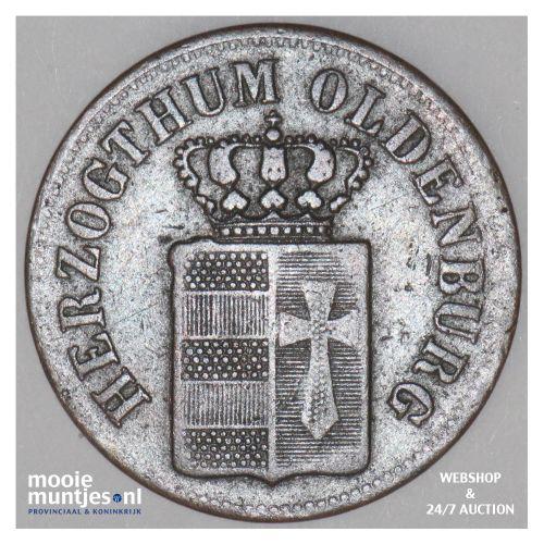 1/2 groten - grand duchy - German States/Oldenburg 1846 (KM 176) (kant B)