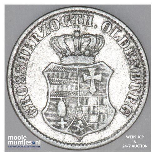 2-1/2 groschen (1/12 thaler) - grand duchy - German States/Oldenburg 1858 (KM 19