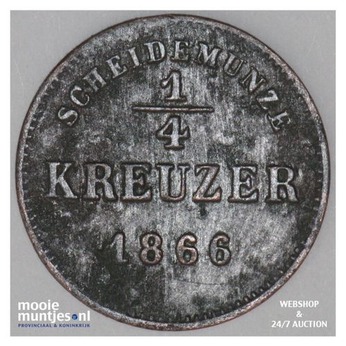 1/4 kreuzer - German States/Schwarzburg-Rudolstadt 1866 (KM 175) (kant A)