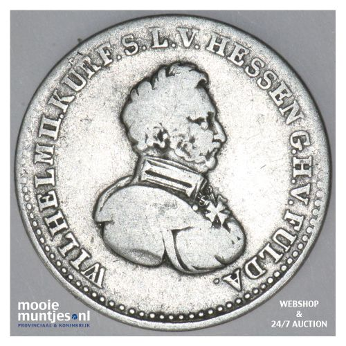 1/6 thaler - electorate (regular coinage) - German States/Hesse-Cassel 1828 (KM