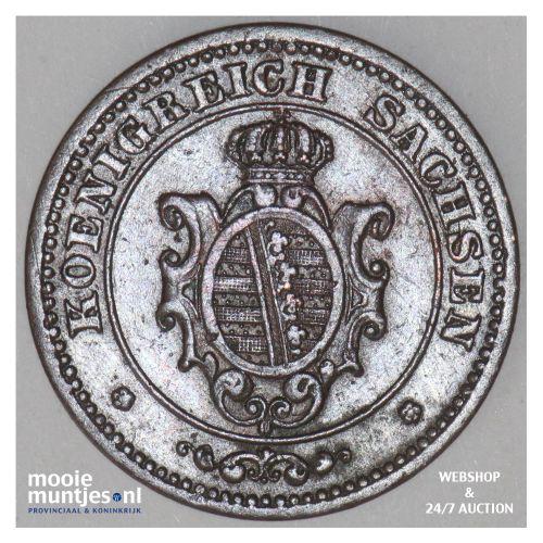 2 pfennig - German States/Saxony-Albertine 1869 (KM 1217) (kant B)