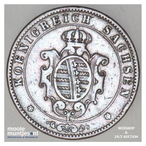 5 pfennig - German States/Saxony-Albertine 1864 (KM 1218) (kant B)