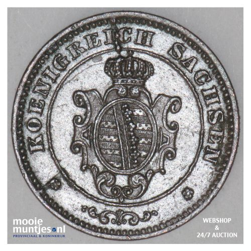 pfennig - German States/Saxony-Albertine 1868 (KM 1216) (kant B)