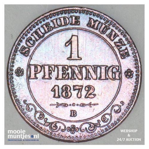 pfennig - German States/Saxony-Albertine 1872 (KM 1216) (kant A)