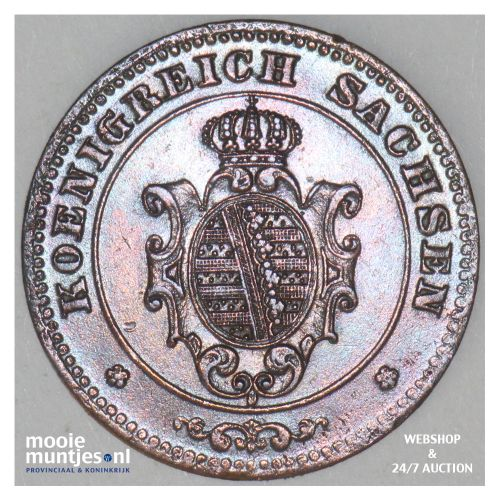 pfennig - German States/Saxony-Albertine 1872 (KM 1216) (kant B)