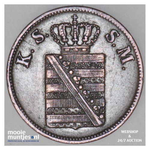 2 pfennig - German States/Saxony-Albertine 1855 (KM 1185) (kant B)