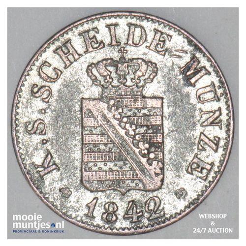 1/2 neu-groschen (5 pfennig) - German States/Saxony-Albertine 1842 (KM 1158) (ka