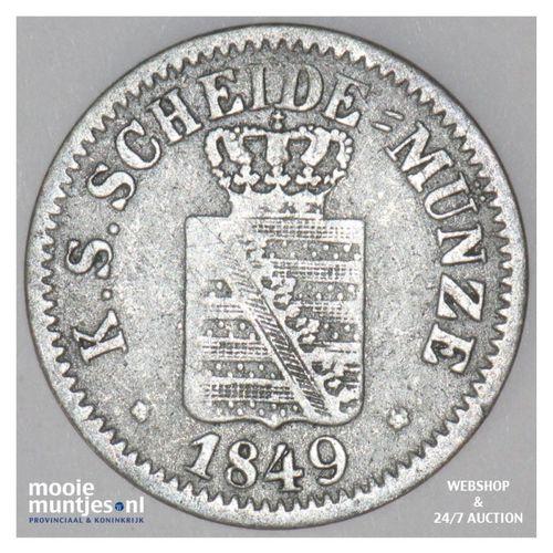 neu-groschen (10 pfennig) - German States/Saxony-Albertine 1849 (KM 1159) (kant
