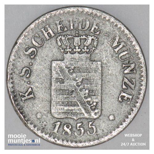 neu-groschen (10 pfennig) - German States/Saxony-Albertine 1855 (KM 1159) (kant