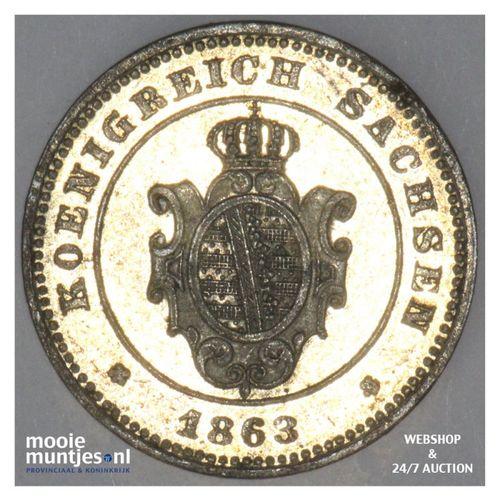 neu-groschen (10 pfennig) - German States/Saxony-Albertine 1863 (KM 1219) (kant