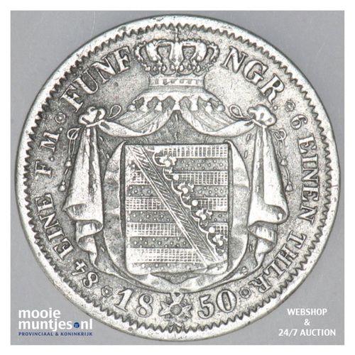 1/6 thaler (1/4 gulden) - German States/Saxony-Albertine 1850 (KM 1161) (kant A)