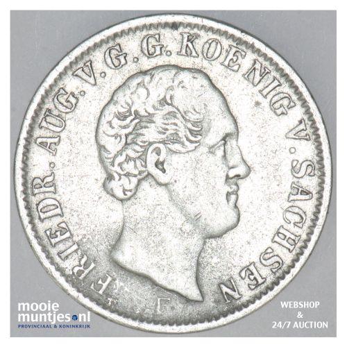 1/6 thaler (1/4 gulden) - German States/Saxony-Albertine 1850 (KM 1161) (kant B)