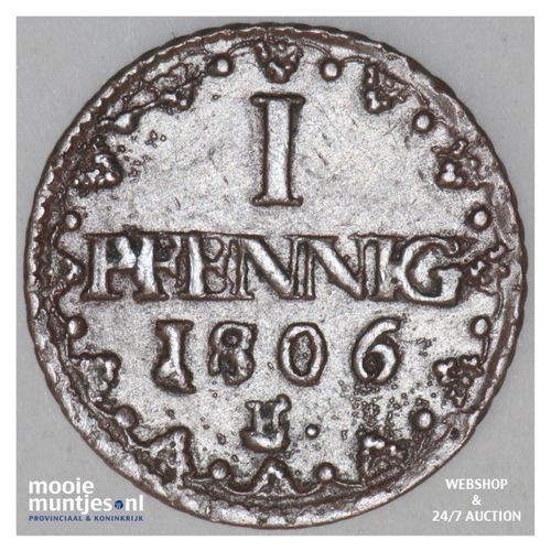 pfennig - electorate - German States/Saxony-Albertine 1806 H over 1795 C (KM 100