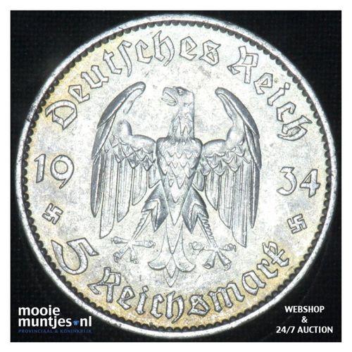 5 reichsmark - Third Reich 1934 A (KM 83) (kant A)