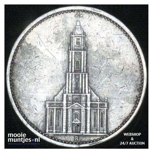 5 reichsmark - Third Reich 1934 A (KM 83) (kant B)