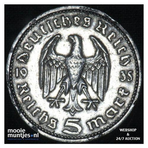 5 reichsmark - Third Reich 1935 A (KM 86) (kant A)