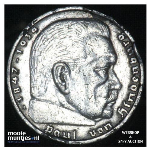 5 reichsmark - Third Reich 1935 A (KM 86) (kant B)