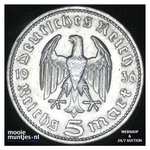 5 reichsmark - Third Reich 1936 A (KM 86) (kant A)