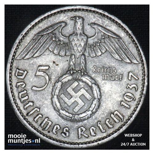 5 reichsmark - Third Reich 1937 A (KM 94) (kant A)