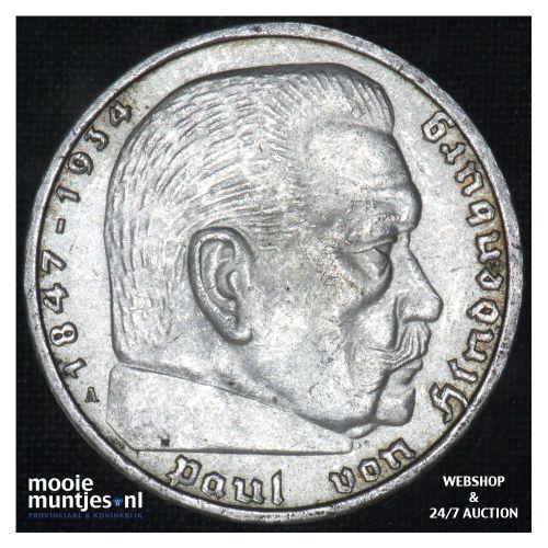 5 reichsmark - Third Reich 1937 A (KM 94) (kant B)