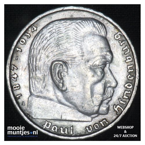 5 reichsmark - Third Reich 1939 A (KM 94) (kant B)