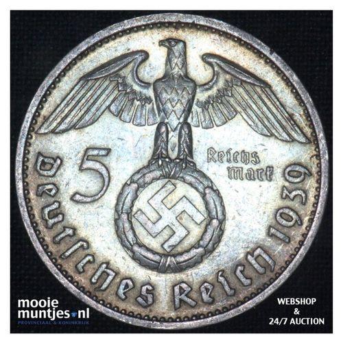 5 reichsmark - Third Reich 1939 B (KM 94) (kant A)