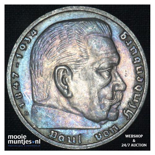 5 reichsmark - Third Reich 1939 B (KM 94) (kant B)