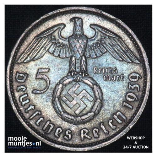 5 reichsmark - Third Reich 1939 D (KM 94) (kant A)
