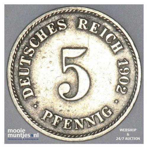 5 pfennig - Germany 1902 F (KM 11) (kant A)