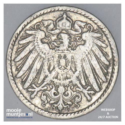 5 pfennig - Germany 1902 J (KM 11) (kant B)