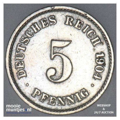 5 pfennig - Germany 1904 G (KM 11) (kant A)